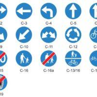 znaki drogowe, znaki nakazu C