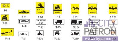 znaki drogowe T2