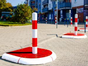 azyle drogowe producent wroclaw, azyl drogowy wroclaw, wyspy ze slupkami parkingowe wroclaw