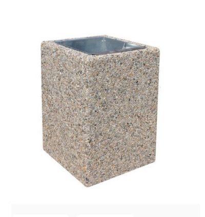 kosz betonowy kwadratowy