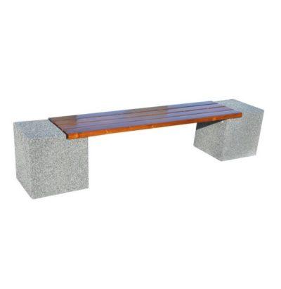 ławka bez oparcia betonowa
