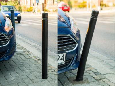 słupki miejskie podatne, słupki parkingowe odchylane
