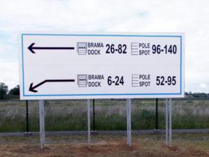tablice informacyjne wielkoformatowe, tablice magazynowe wielkoformatowe, billboardy firmowe metalowe